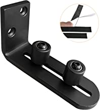 DonYoung Adjustable Wall Mount Floor Guide for All Sliding Barn Door, Smooth AS Butter Bearings, Flush Design Bottom Flat Door Guide Stay Roller, Durable Metal Steel Frame - Upgraded Floor Guide