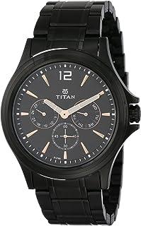 Titan All Black Analog Black Dial Men's Watch NM1698NM01/NN1698NM01