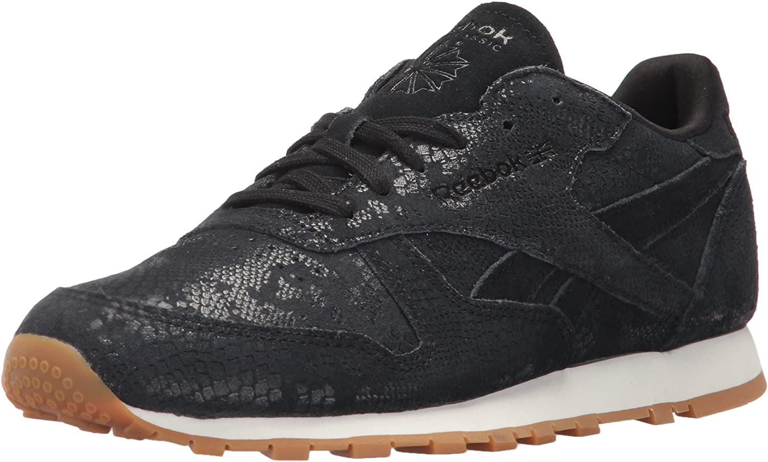 Reebok Classics Womens Women's Leather Clean Exotics Fashion Sneakers Fashion Sneakers