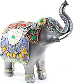 HOMERRY Polyresin Elephant Figurines 7.4in L6.7in H for Home Decor Ornament