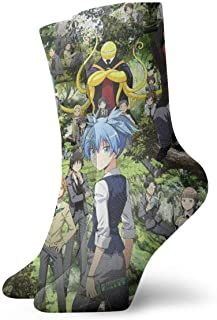 eneric, Assassination Classroom Calcetines Crew Divertidos Casual Unisex Adultos Niños Anime Impresión Tobillo Niño Acogedor Calcetín Cool 90's