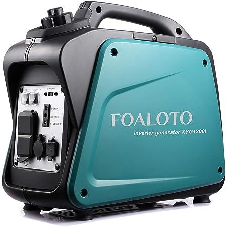 FOALOTO インバーター発電機 防音型 ガソリン発電機 定格出力1.0KVA 最大1.2KVA 50Hz/60Hz切替 過負荷保護 地震 停電 災害適用 USB出力 静音設計 12ヶ月保証 XYG1200i