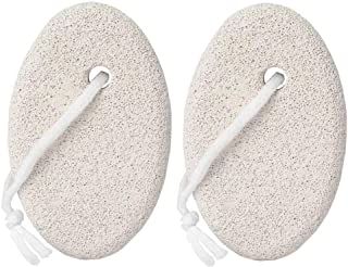 Natural Pumice Stone for Feet, 2 Pack Lava Pedicure Tools Hard Skin Callus Remover for Feet and Hands - Natural Foot File ...