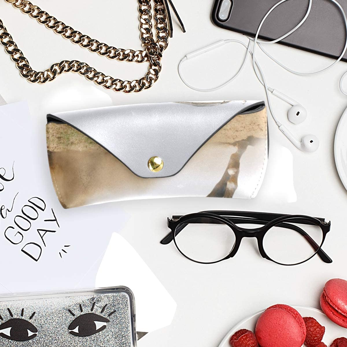 Goggles Bag Sunglasses Case Eyeglasses Pouch PU Leather Horse In Dust Holder Portable Multiuse