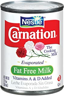 Carnation Carnation Evaporated Fat Free Milk, 12-Ounce Cans (Pack of 24)