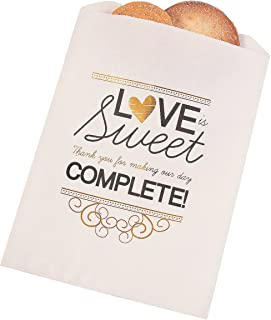 Love Is Sweet Thank You Cake Bags (bulk set of 50) Wedding Party Supplies