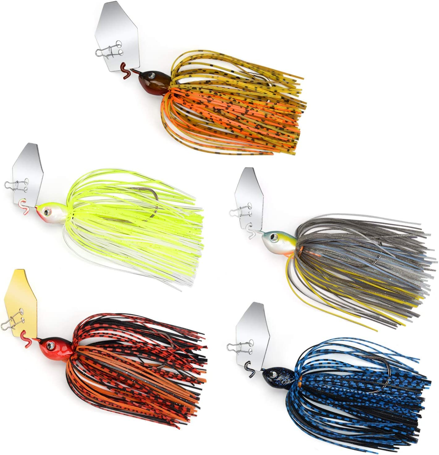 MadBite New New color Orleans Mall Bladed Jig Fishing Lures 5 and 3 pc Kits Multi-Color