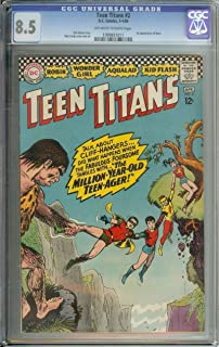 TEEN TITANS #2 CGC 8.5 OW/WH PAGES