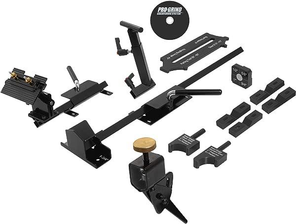 Pro Grind Sharpening System For Lathe Turning Tools Chisels Skews Gouges Bowl Gouges Spindle Gouges And More Includes The Multi Grind Jig For Gouges Slotted Platform And Tool Rest