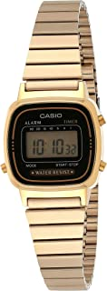 Women's Vintage LA670WGA-1DF Daily Alarm Digital Gold-tone Watch