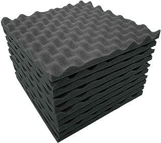 Hot Sale🔥Quaanti 10Pcs Acoustic Panels Studio Soundproofing Foam Wedge Tiles, Sound-absorbing Acoustic Panels, Soundproof Foam Wedge Wall Sticker for Recording Studio Drum Piano KTV Sing Room (black)