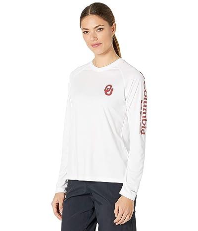 Columbia College Oklahoma Sooners Collegiate Tidal Long Sleeve Shirt (White/Red Velvet) Women