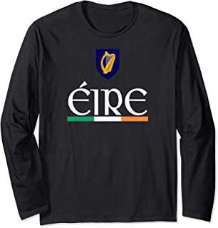 Eire Ireland Soccer Jersey Shirt Irish Sports Football Pride Long Sleeve T-Shirt