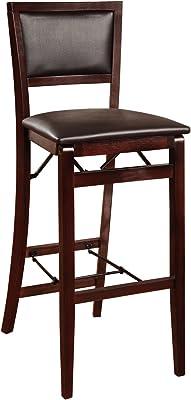 Amazoncom Linon Keira Pad Back Folding Bar Stool Kitchen Dining