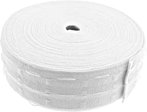 50 Meters Roll of Curtain Heading Header Tape White