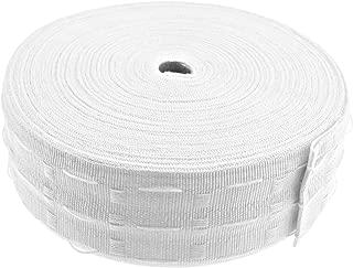 Rollo de cinta de cortina de 50 metros, color blanco