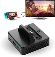 HDMI Dock for Nintendo Switch, TV Dock for Nintendo Switch, Portable Replacement Mini Dock for Nintendo Switch with USB 3.0 Port and HDMI Port - Black