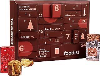 Foodist Gourmet Adventskalender 2021 mit 24 internationale Snacks wie Chips, div. Schokolade, Gebäck, salzigem Nuss-Mix, F...