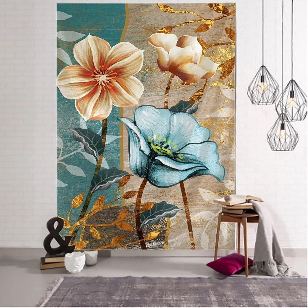 3D Plant Flower Tapestry Wall Bohemian Al sold out. Painting Matt Hanging Trust Oil