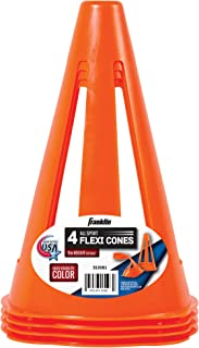 "Franklin Sports 9"" Flexible Soccer Cones- 4 Pack"