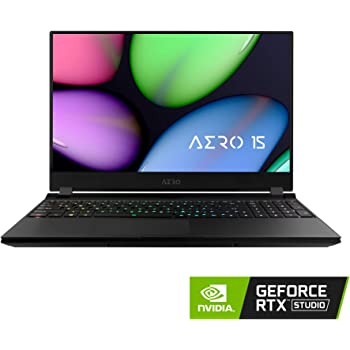 """[2020] Gigabyte AERO 15 KB Thin+Light Performance Laptop, 15.6"""" 144Hz FHD IPS Display, GeForce RTX 2060, Intel Core i7-10750H, 16GB DDR4, 512GB NVMe SSD, Up to 8.5-hrs Battery Life"""