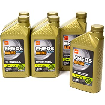 Eneos 3901-302 Synthetic Racing Motor Oil, 6 Quart, 1 Pack