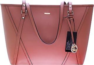 Stella Maris Damen Handtasche Lederhandtasche mit einem echtem Diamant Umhängetasche Tasche Damenhandtasche Frauenhandtasche Shopper STMB601-05 32/24/18 CM