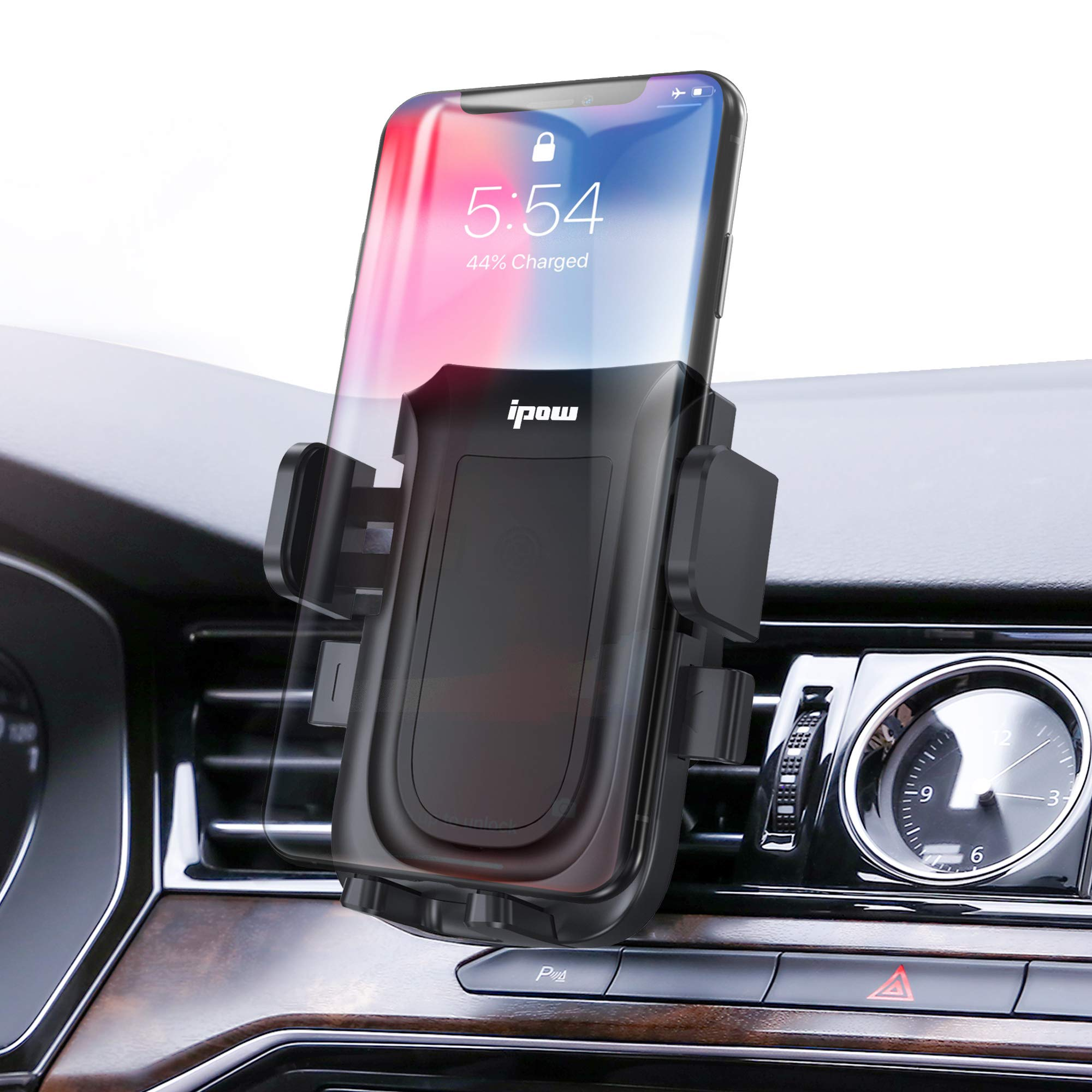 Car Phone Mount Air Vent Cell Phone Holder for Car Compatible with iPhone Xs//Xs Max//XR//X//8//8 Plus//7//7 Plus and Other Phones Galaxy S10//S10+//S9//S9+ Air Vent Phone Holder for car Black