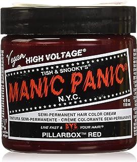 Manic Panic Pillarbox Cream Formula Semi Permanent Hair Colour Dye, Red, 113g