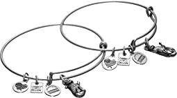 Charity by Design Side by Side Set of 2 Expandable Wire Bangles