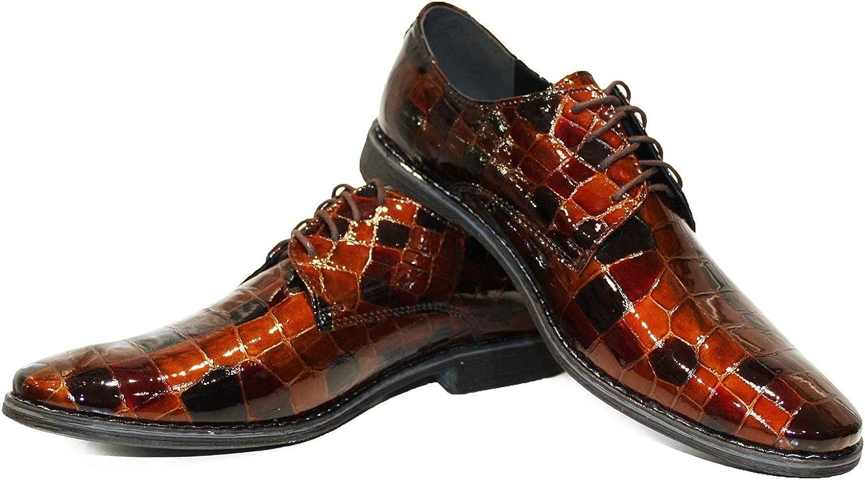 Modello Yimilerro - Handgjorda italienska läder Mens Färg Färg Färg bspringaa Oxfords Dress skor - Cowhide Patent Leather - Lace -Up  ny sadie