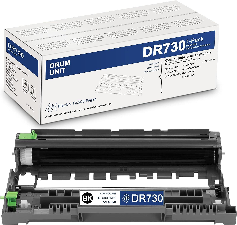 HighYield1PackBlackDR730DR-730CompatibleDrum UnitReplacementforBrother DCP-L2550DW MFC-L2710DW L2750DW L2750DWXL HL-L2350DW L2370DW/DWXL L2390DW L2395DWPrinter