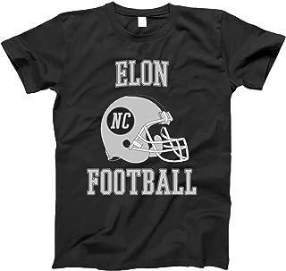 4INK Vintage Football City Elon Shirt for State North Carolina with NC on Retro Helmet Style