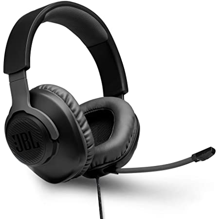 JBL Quantum 100 by Harman Wired Over-Ear Gaming Headset with Detachable Mic for PC, Mobile, Laptop, PS4, Xbox, Nintendo Switch, VR (Black)