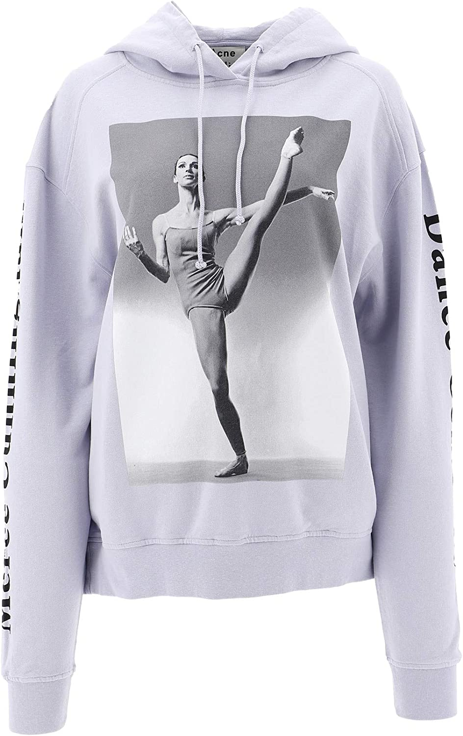 ACNE STUDIOS AI0023GREY Women's Grey Cotton Sweatshirt