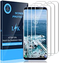 LK [3 Pack] Screen Protector for Samsung Galaxy S8 Plus, [Flexible Film] HD Clear Bubble Free with Lifetime Replacement Warranty