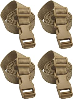"XTACER 1"" Molle Backpack Accessory Strap Small Belt Luggage Straps Cover Strap Sleeping Bag Strap with Buckle"