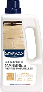 STARWAX Lait de Brillance pour Marbres et Pierres Naturelles - 1L - Idéal pour Nettoyer et Raviver la Brillance du Marbre ...