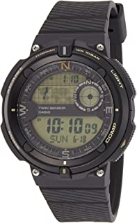 Casio Unisex-Adult Digital Wrist Watch Digital Display and Resin Strap, SGW600H-9A