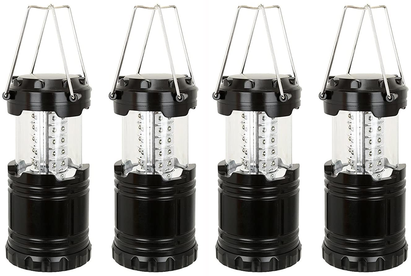 Everyday Essentials Ultra Bright LED Collapsible Water Resistant Camping Lantern Flashlights