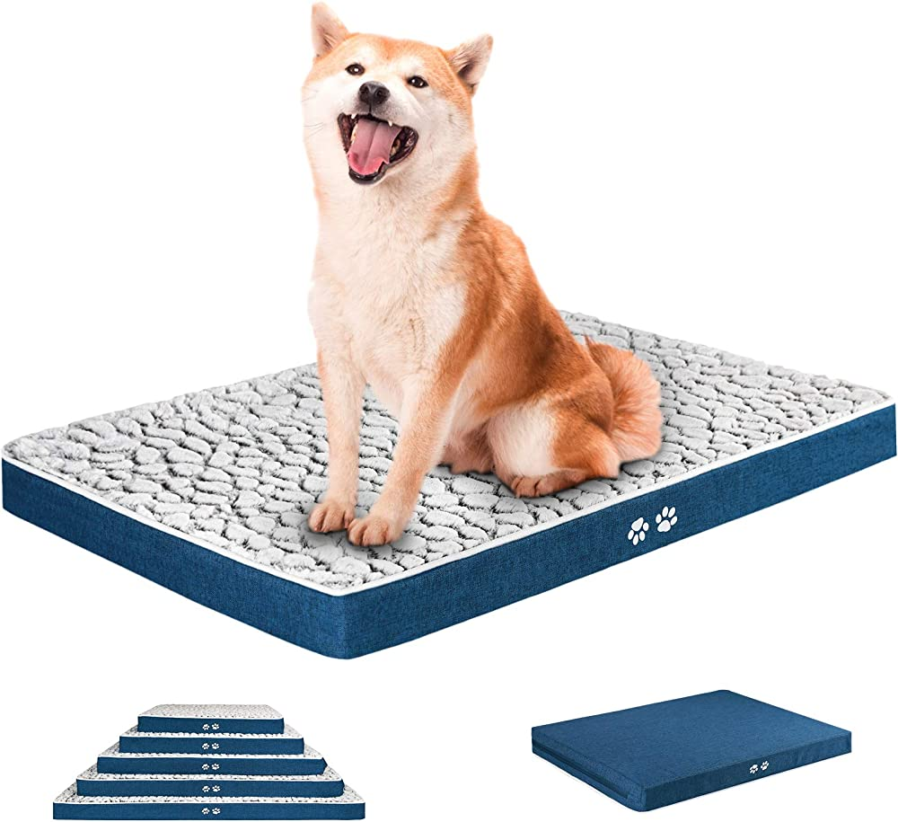 Kroser, letto per cani, in morbido peluche auto-riscaldante, lavabile, taglia L, 91cm x 61cm x 7,6cm