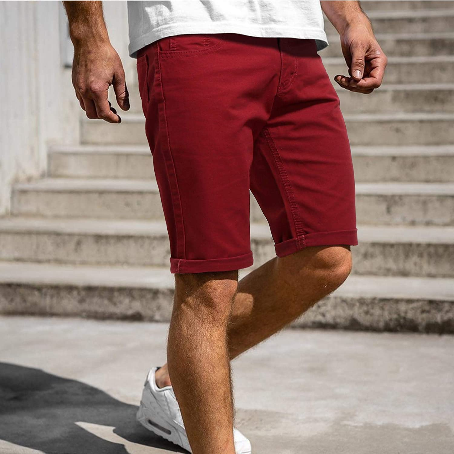 Men's Jersey Shorts Simple Color Workout Casual Polyester Fitness Bodybuilding Gym Short Sports Shorts Training Short