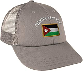 Custom Snapback Baseball Cap Jordan Embroidery Country Name Cotton Mesh Hat