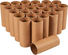 Brown Cardboard Tubes for Crafts, Craft Paper Rolls (1.6 x 5.9 in, 24 Pk)