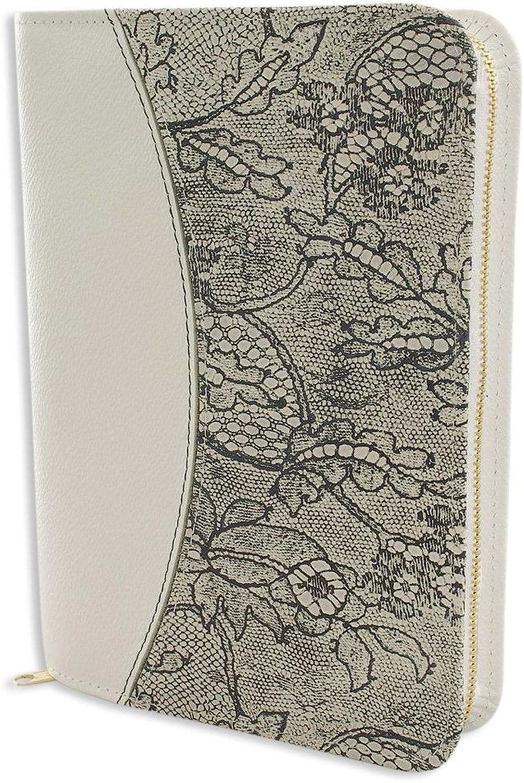 Gotteslobhülle Leder weiß weiß weiß mit Blaumenmotiv dunkel B00HUQMB5O | Zu einem erschwinglichen Preis  29a53c