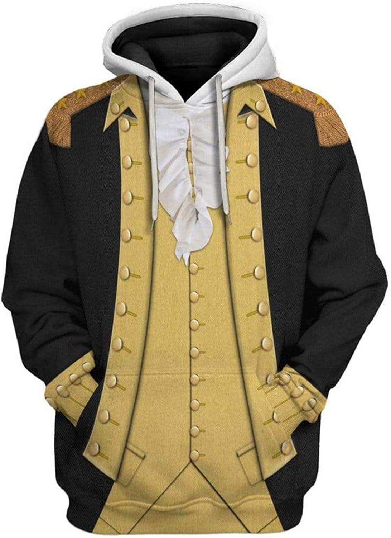 Mens Adults OFFicial site President Hoodies Historical Sweatshir Hero Print Popular products 3D