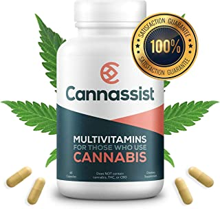 Cannassist Vitamin Supplement for CBD, THC, Hemp and Cannabis Users | Appetite Control, Stress Relief, Energy, Focus and Mood Boosting Multivitamin for Men and Women