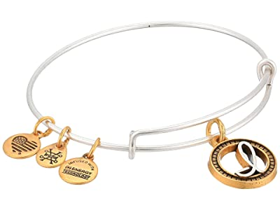 Alex and Ani Initial I Charm Bangle (Two-Tone) Bracelet