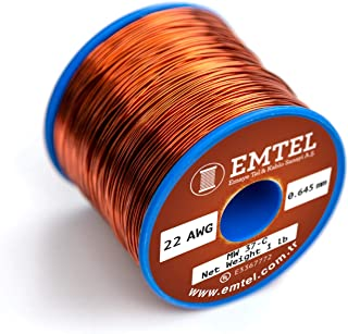 1.5 lb 594 ft 155/°C Magnetic Coil Red TEMCo 21 AWG Copper Magnet Wire