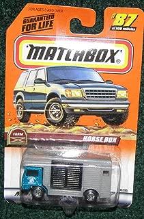 MATCHBOX 1999 #87 FARM SERIES TEAL & GREY HORSE BOX TRUCK (HORSE IN BACK) by Matchbox